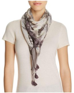 Brushed Geo Stripes Square Scarf