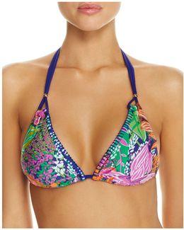 Tropical Escape Triangle Bikini Top