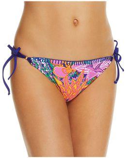 Tropical Side Tie Bikini Bottom