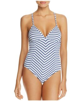 Chambray One Piece Swimsuit