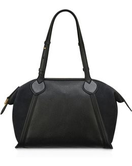 Lucille Zip Leather Tote