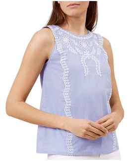 Milly Eyelet Embroidery Top