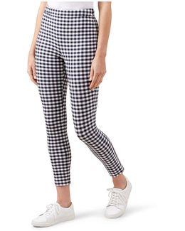 Marlowe Gingham-print Cropped Pants