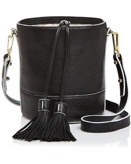 Astor Drawstring Leather Bucket Bag