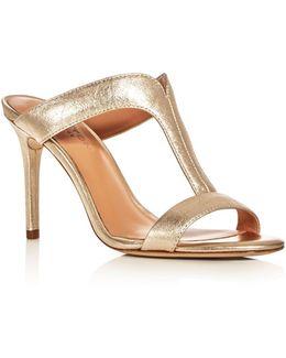 Arya T-strap Slide Sandals