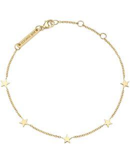 14k Yellow Gold Star Bracelet