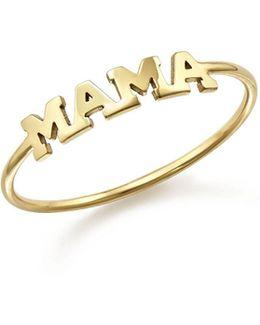 14k Yellow Gold Mama Ring