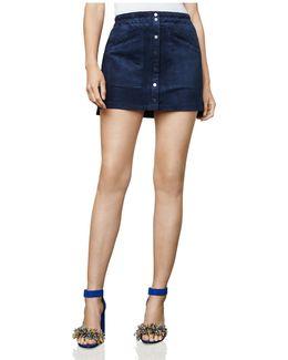 Mora Faux-suede A-line Mini Skirt