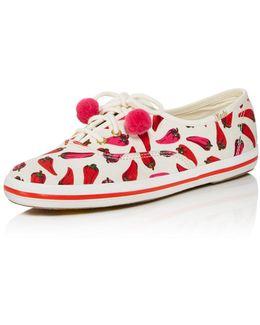 X Keds Kick Pom-pom Lace Up Sneakers