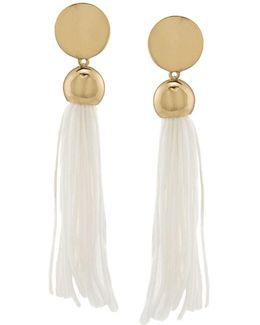 Mojito Nights Tasseled Linear Drop Earrings
