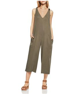 Tie-shoulder Wide Leg Jumpsuit