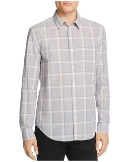 Washed-out Plaid Regular Fit Button-down Shirt