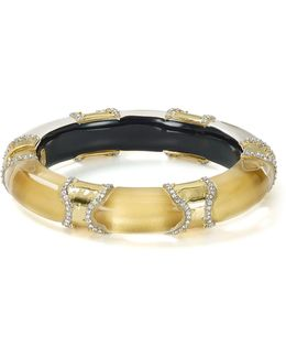 Pavé Segmented Lucite Hinge Bangle