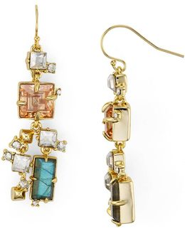 Geometric Stone Drop Earrings