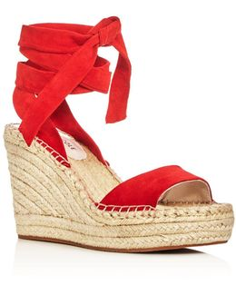 Odile Ankle Tie Espadrille Wedge Sandals
