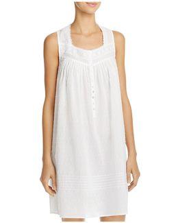 Swiss Dot Short Gown