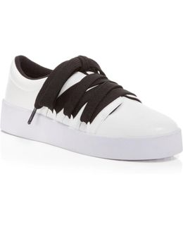 Arna Leather Lace Up Platform Sneakers