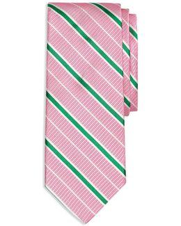 Textured Ground Alternating Stripe Classic Tie