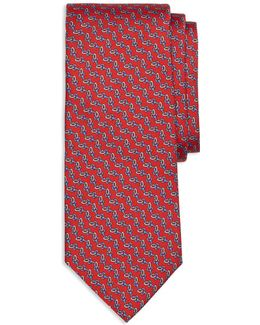 Chain Link Print Classic Tie