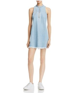 Stella Zip-front Denim Dress