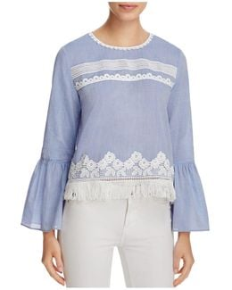 Irena Embellished Bell Sleeve Blouse