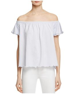 Summer Daze Off-the-shoulder Tee