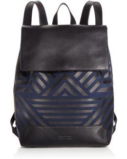 Geo Twill Drawstring Backpack