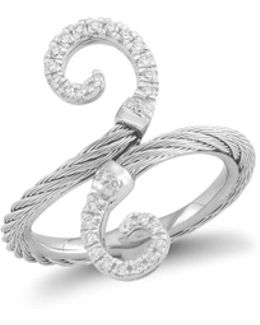 Diamond Grey Cable Ring
