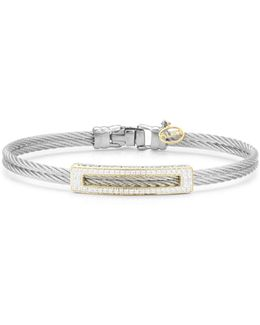 Diamond Grey Cable Bangle