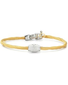 Diamond Yellow Cable Bangle