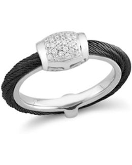 Diamond Black Cable Ring