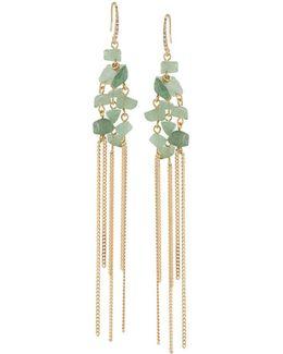 Linear Stone Drop Earrings
