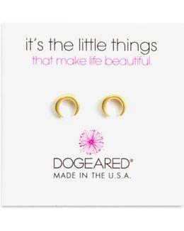 Crescent Stud Earrings