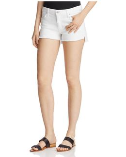 Step-hem Denim Shorts In Field