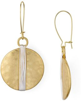 Shepards Hook Disc Earrings