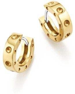 18k Yellow Gold Symphony Pois Moi Huggie Hoop Earrings
