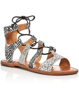 Jasmyn Lace Up Gladiator Sandals