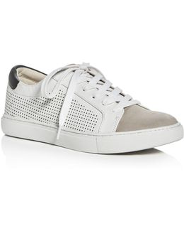 Kam Perforated Lace Up Sneakers