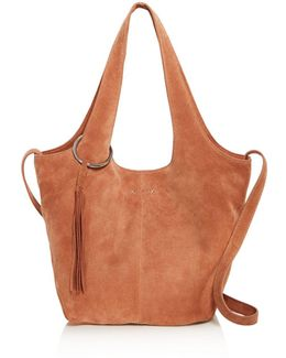 Finley Small Suede Tote