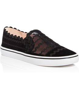 Senza Too Suede And Mesh Slip-on Sneakers
