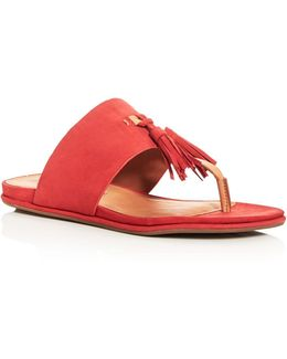 Ottie Tassel Thong Sandals