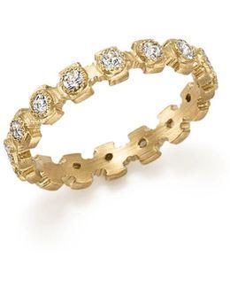 18k Yellow Gold Sueno Diamond Stacking Ring