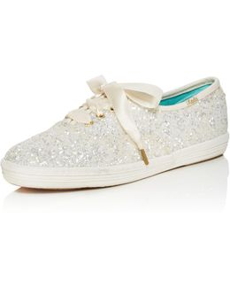 X Keds Glitter Lace Up Low Top Sneakers