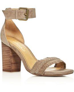 Jakey Fringe Ankle Strap High Heel Sandals