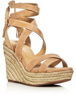 Janice Ankle Tie Espadrille Wedge Sandals