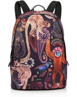 Monkey Print Backpack