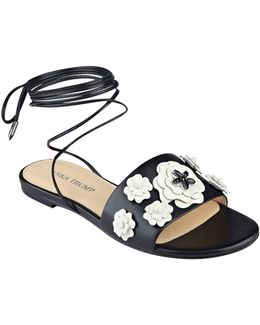 Catera Leather Flat Sandals