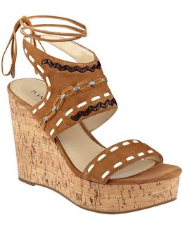 Zader Platform Wedge Sandals