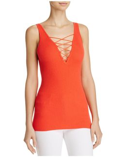 Lace-up Tank Top