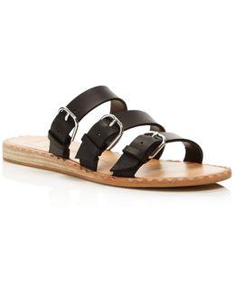 Para Leather Slide Sandals